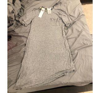 BCBG gray asymmetrical t-shirt dress